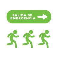 Imagen personas dirigiéndose a salida de emergencia